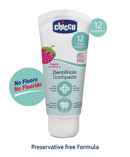 Kem đánh răng Chicco hương  dâu cho bé 12 tháng