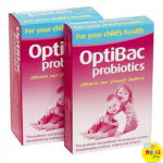 Men vi sinh Optibac hồng trị táo bón cho trẻ em & bà bầu