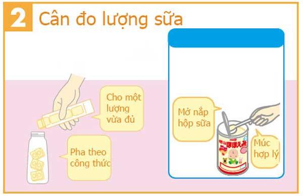 Cân đo lượng sữa