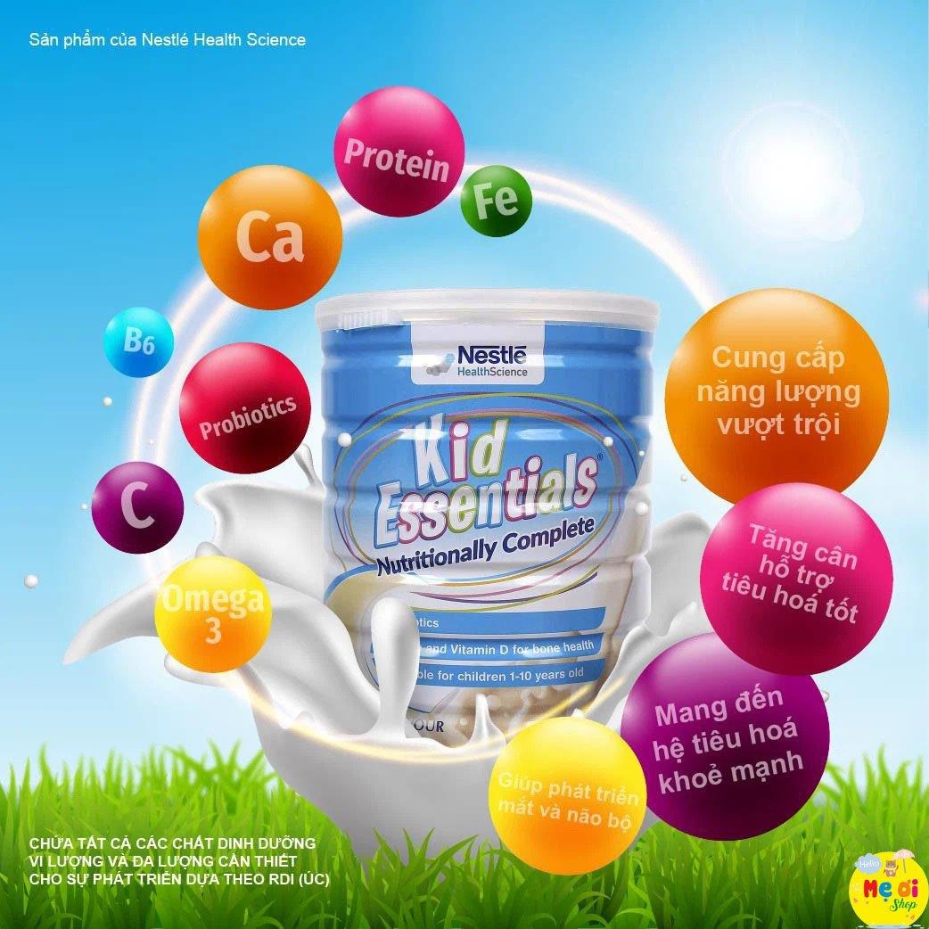 Thành phần dinh dưỡng của sữa Kid Essential