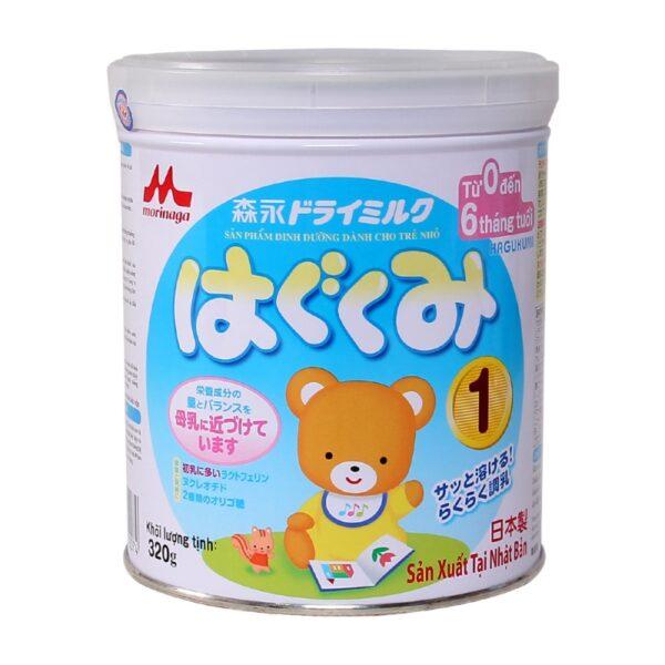 Sữa Morinaga số 1 320g nhập khẩu