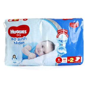 Tã dán sơ sinh Huggies Dry S50