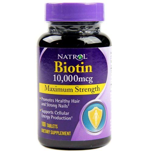 Viên mọc tóc Natrol Biotin 1000 mcg