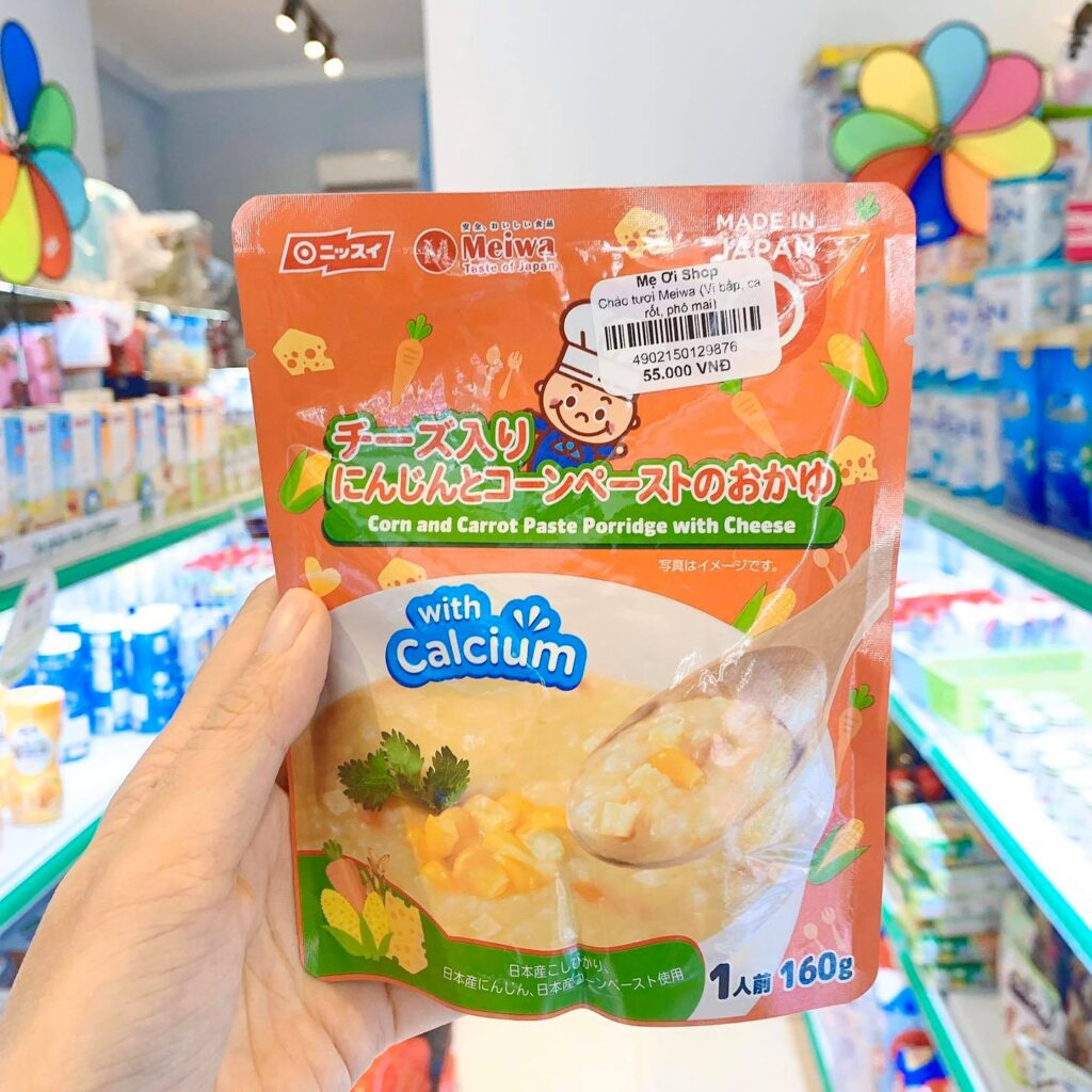 Cháo tươi Meiwa vị bắp cà rốt phô mai