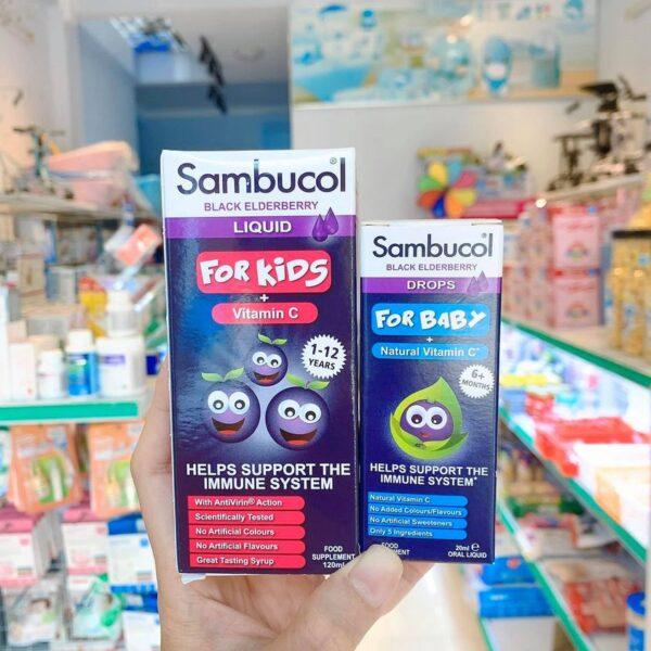 Thuốc sambucol tăng đề kháng cho bé 6M - 12Y
