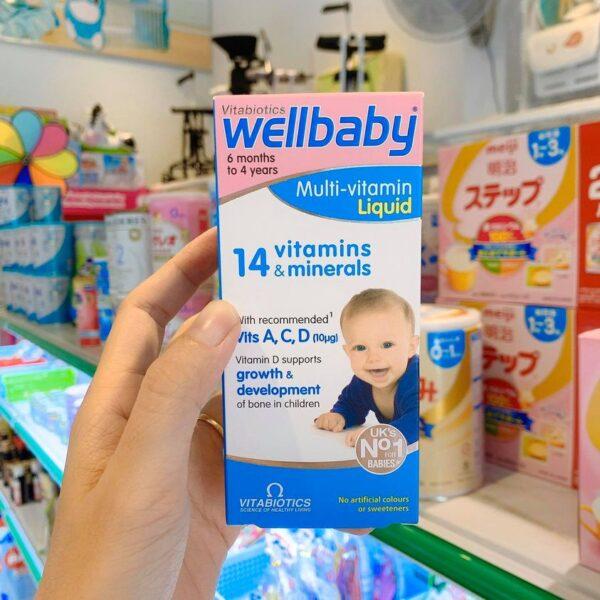 Vitamin tổng hợp wellbaby cho trẻ biếng ăn